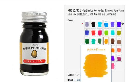 J Herbin Ambre de Birmanie (Amber of Burma) 10ml Bottled Ink