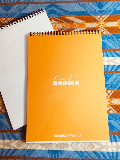 Rhodia Orange dotPad Top Wirebound 8¼ x 11¾