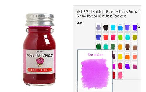 J Herbin Rose Tendresse (Tenderness pink) 10ml Bottled Ink
