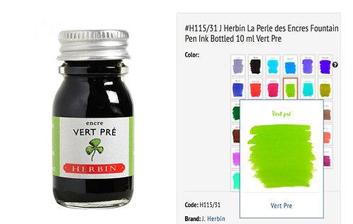 J Herbin Vert Pres (Spring Green)  Bottled Ink