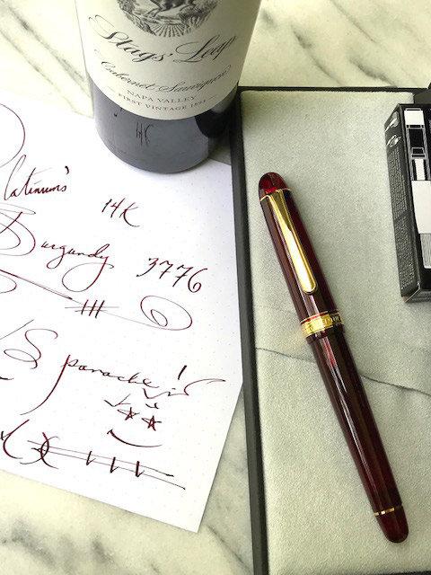 Platinum 3776 14K Century - Bourgogne/Gold