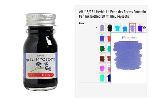 J Herbin Bleu myosotis (Forget-me-not) 10ml Bottled Ink