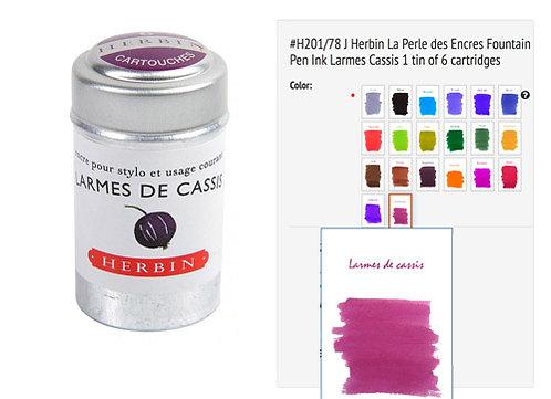 J Herbin Larmes de cassis (Black currant) Universal cartridges