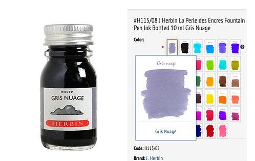 J Herbin Gris Nuage (Cloud gray) 10ml Bottled Ink
