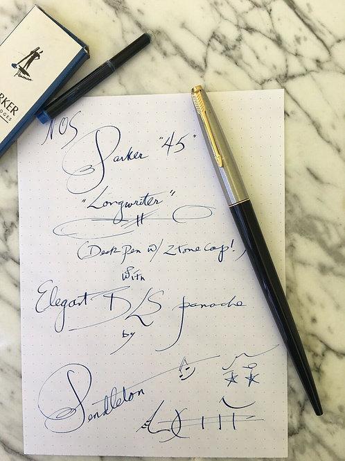 "Parker ""45"" M ""Longwriter"" ~ Elegant BLS* Stub Italic Panache by Pendleton"