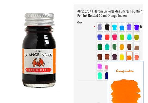 J Herbin Orange Indien (Indian orange) 10ml Bottled Ink