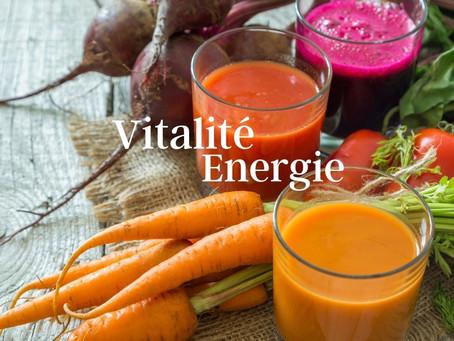 Améliorez votre vitalité avec des jus de légumes, détox, énergétiques, digestifs...