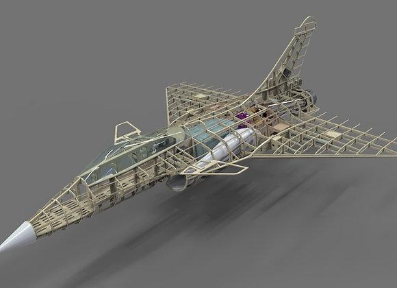 Dassalt Rafale 1:7.8 Turbine Version Short Kit by Custom Wings