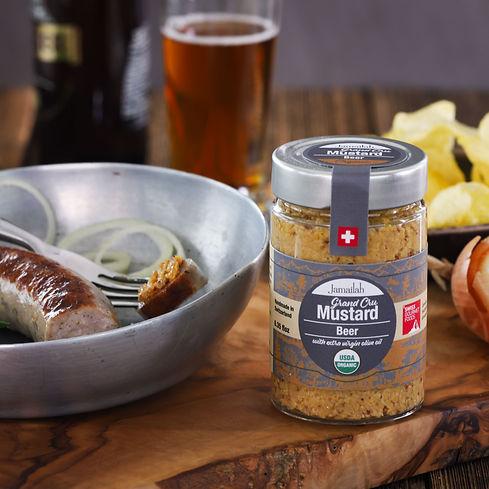 Jamailah's organic beer mustard