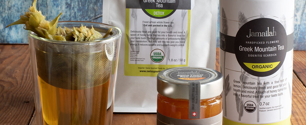 Set of 3 Organic Detox Tea & Raw Honey