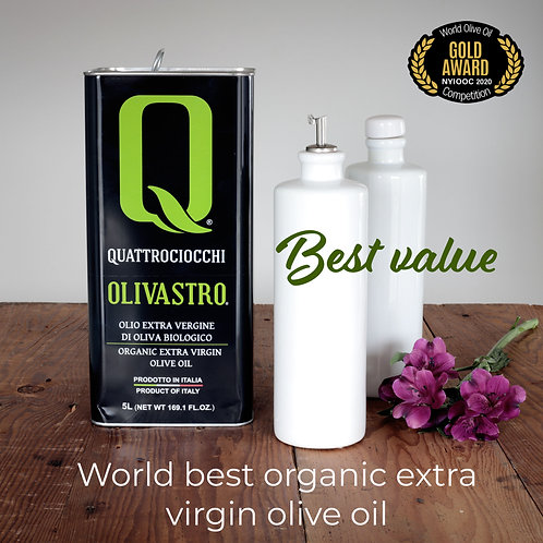 Grand Cru Olivastro Organic Extra Virgin Olive Oil (1.32 Gallons)