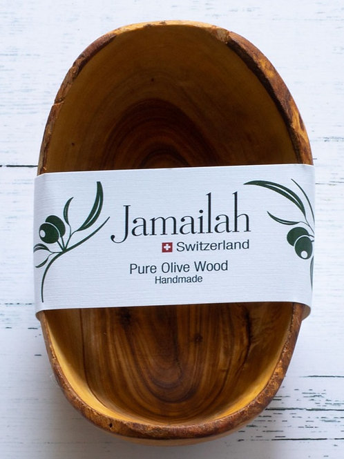 Oval bowl made from Olive Wood