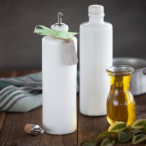 Oil and Vinegar clay bottles - Set of 2