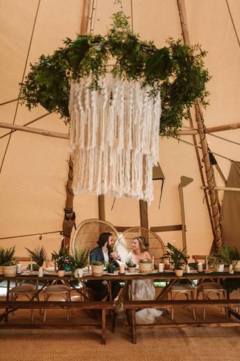 Macrame Hanging Chandelier