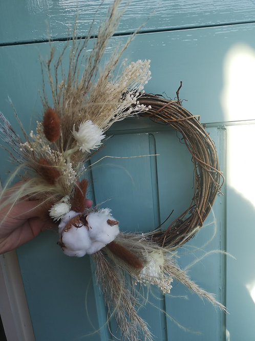 Natural Wicker Bohemian Wreath