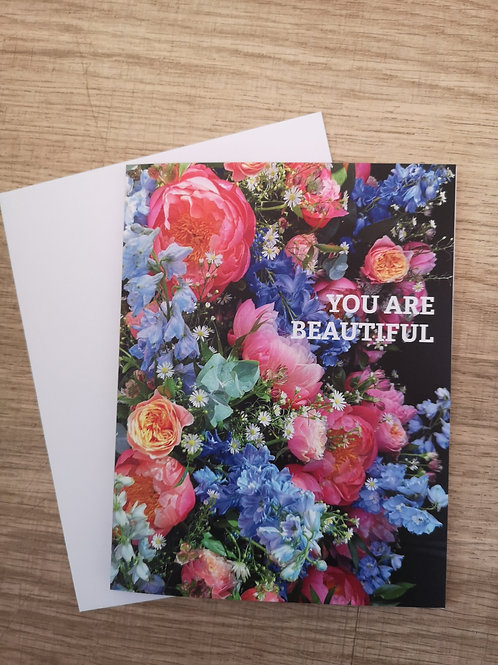 """""""You Are Beautiful"""" Card"""