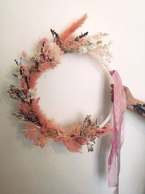 Pink Romance Dried Wreath
