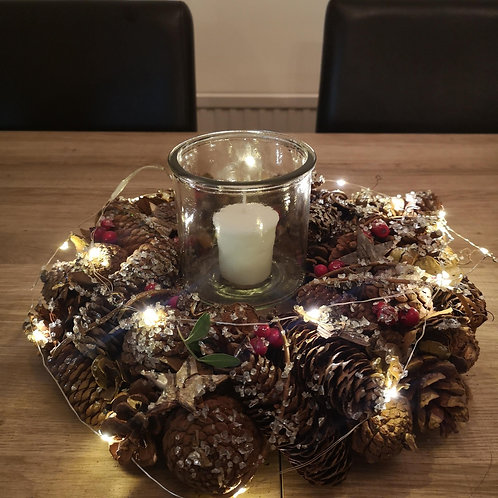 Christmas Wooden Table Centrepiece