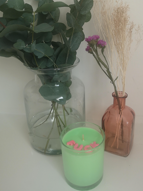 "Neon Green ""Fuck"" Candle"