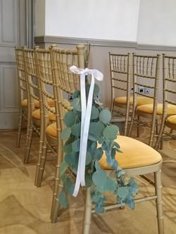 eucalyptus chair flowers