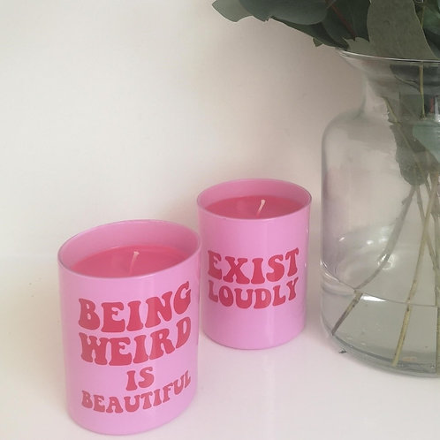 Exist Loudly Candles