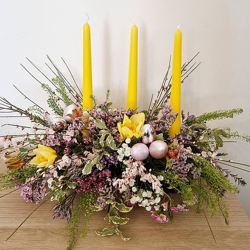 Taper Candle centrepiece