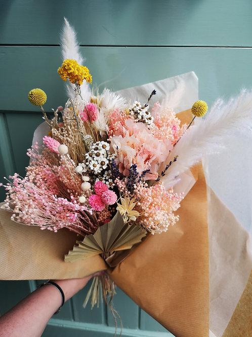 Pink Kiss Dried Flower Bouquet