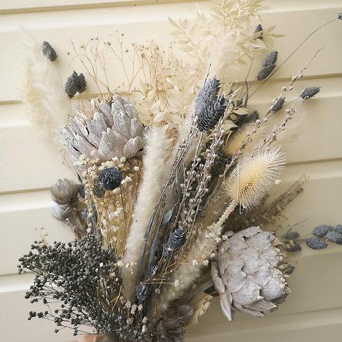 """Setting Grey"" Dried Flower Bouquet"