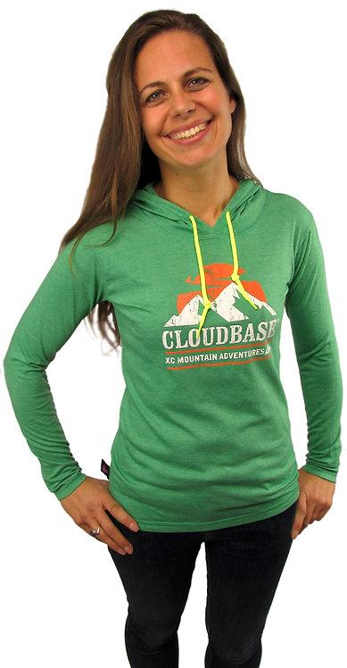 CBAV108F Cloudbase Ladies Long Sleeve Hooded T-Shirt