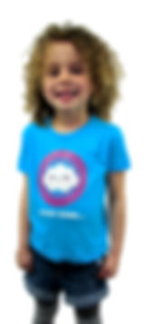 cloudbase children's t-shirt, every cloud has a silver lining design