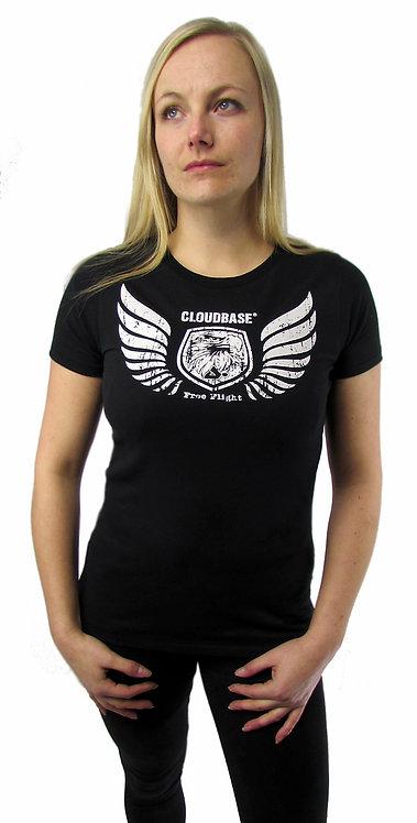 CBN82 Cloudbase Women's Urban Brushed T-Shirt (Free Flight Wings)