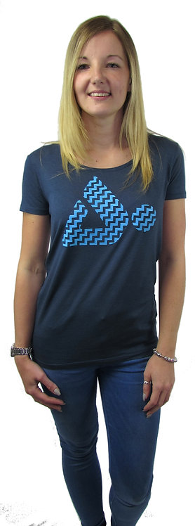 CBEP09 Cloudbase Women's Open Neck T-Shirt  (Ziggy Free Fall Logo)