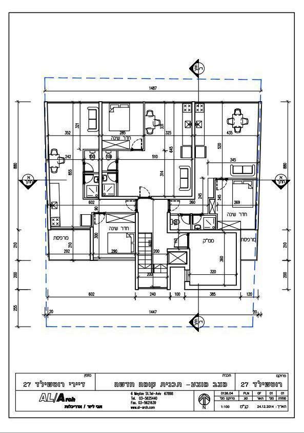 מצב מוצע - תוכנית קומה חדשה