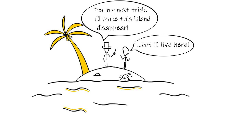 Pacific Islands disappearing, climate change magic trick