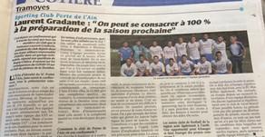 Le président GRADANTE s'exprime dans le journal de la Cotière