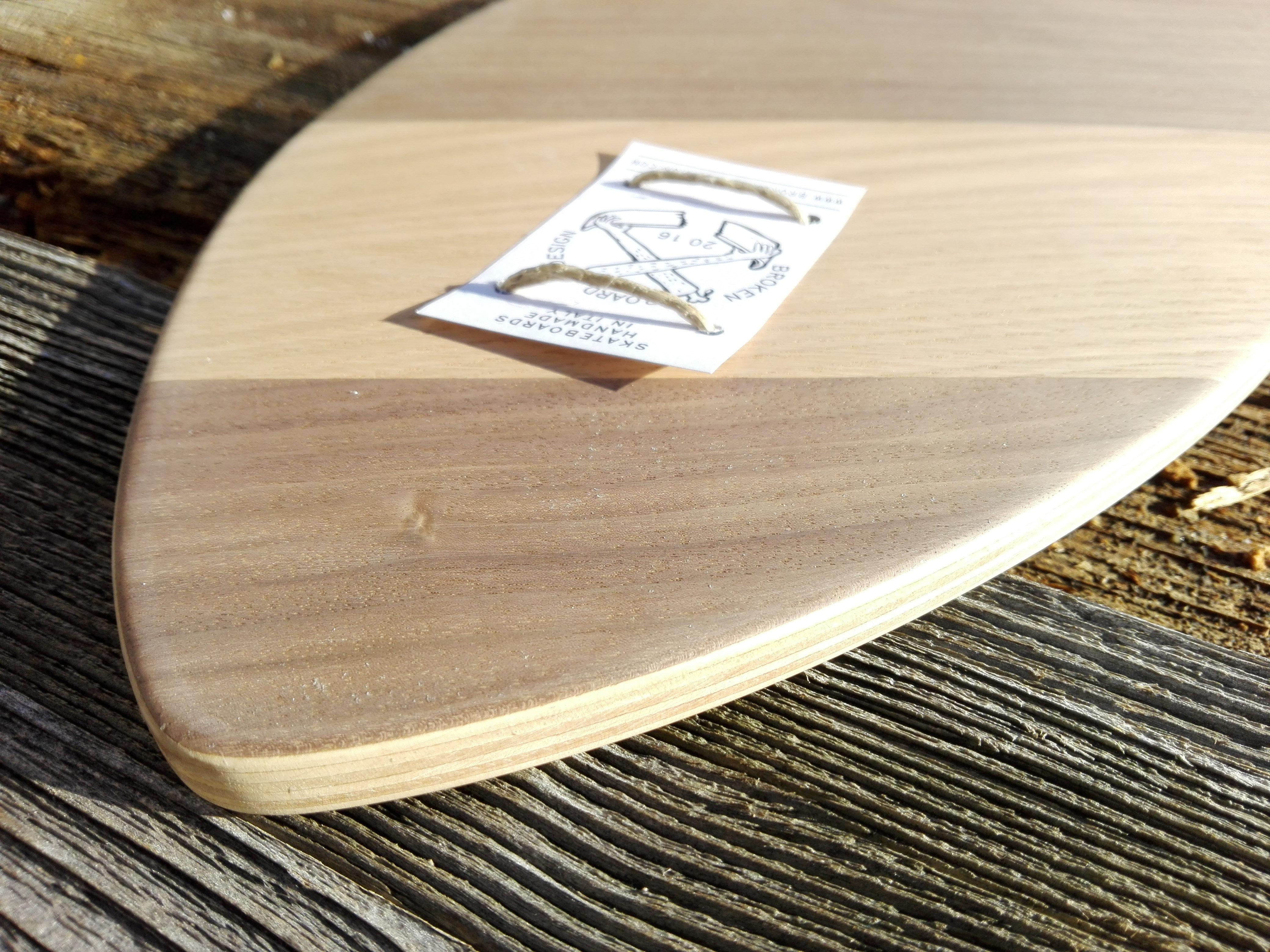 Longboard Cherry Walnut Brokenboarddesign