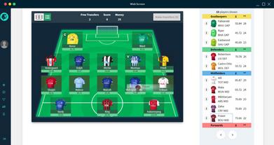 Fatnasy Football Line-up