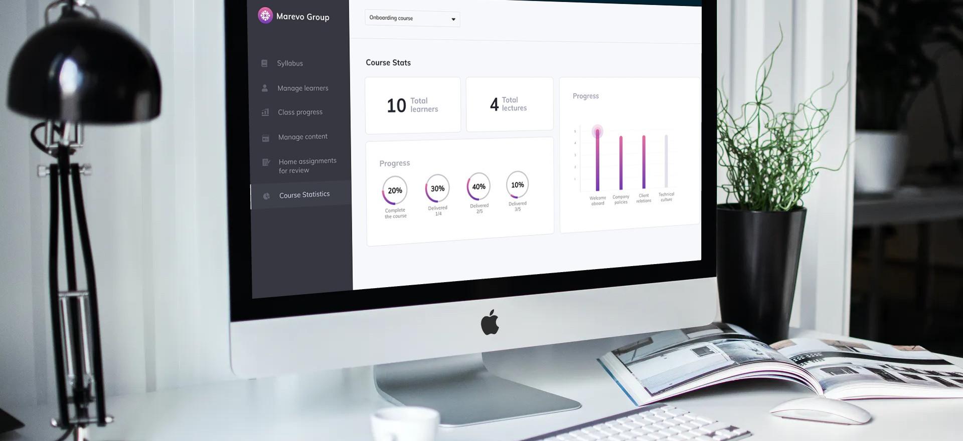 E-learning platform desktop