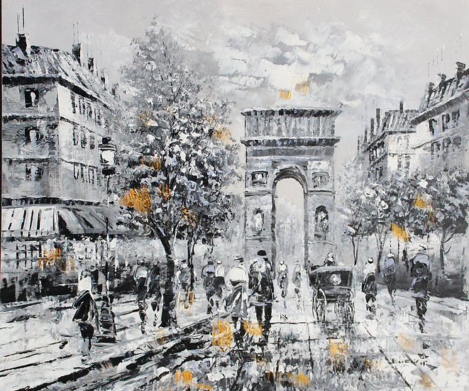 Street Of Paris (B&W and gold)