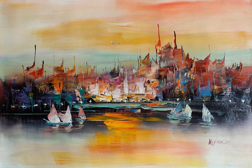 Liquid Boats In Sunset