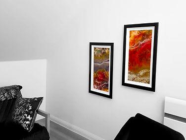 hanging installation art frame cardiff