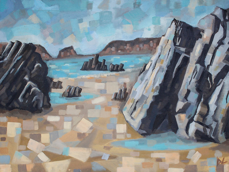View Through Marloes Rocks