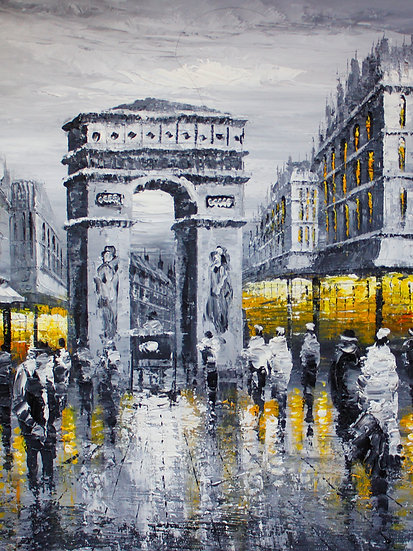 Street Of Paris B&W