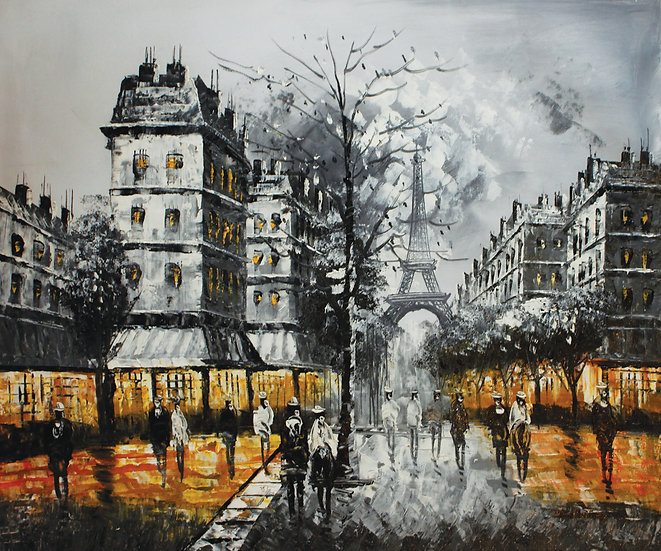 Street Of Paris (B&W Yellow)