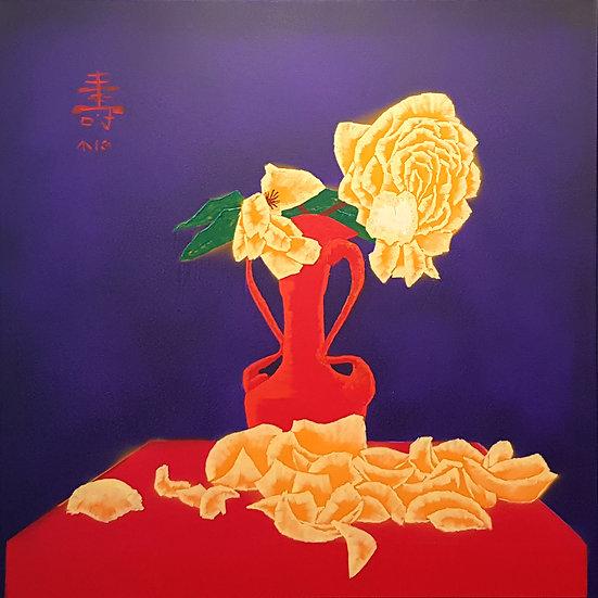 Kotobuki: yellow roses, wishes for long life