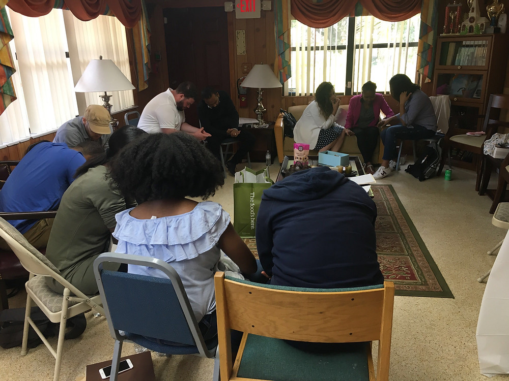 Gathering to pray and plan for our area.