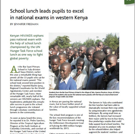 Kenyan AIDS orphans excel with help from agroforestry