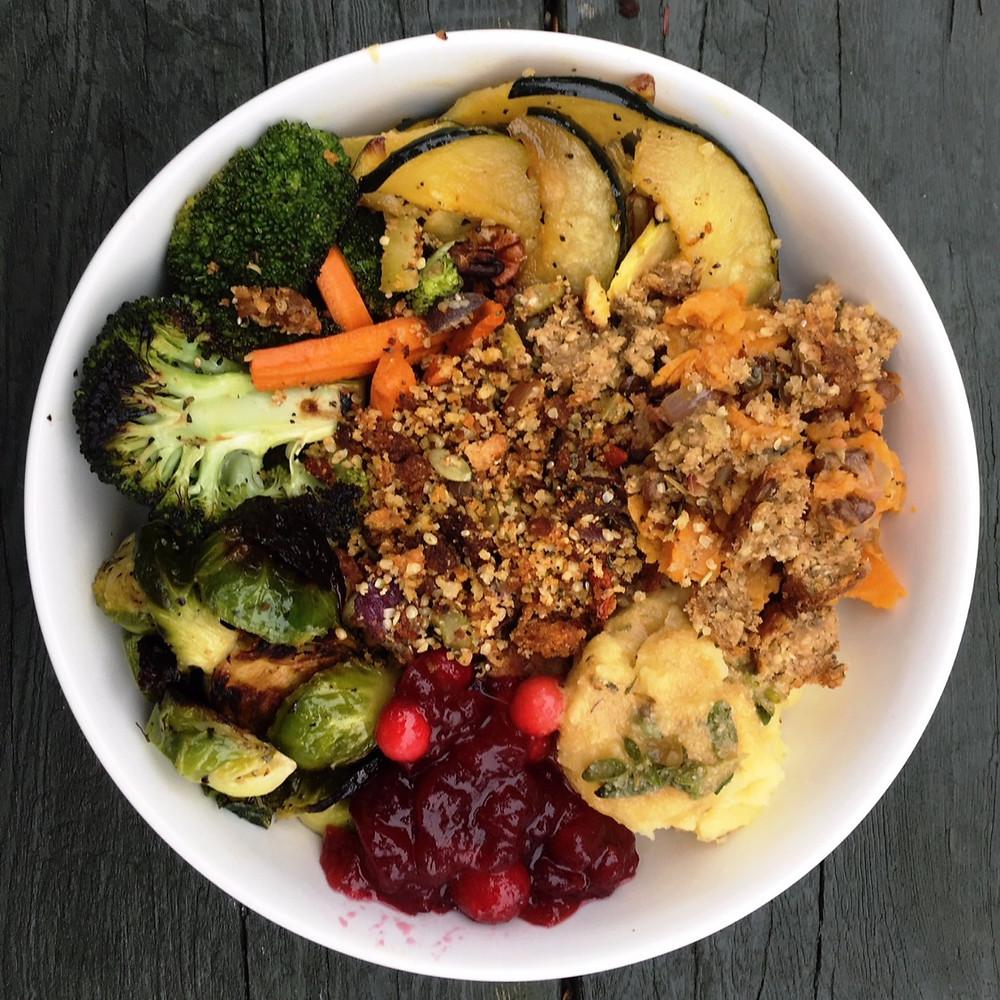 Vegan Thanksgiving Bowl