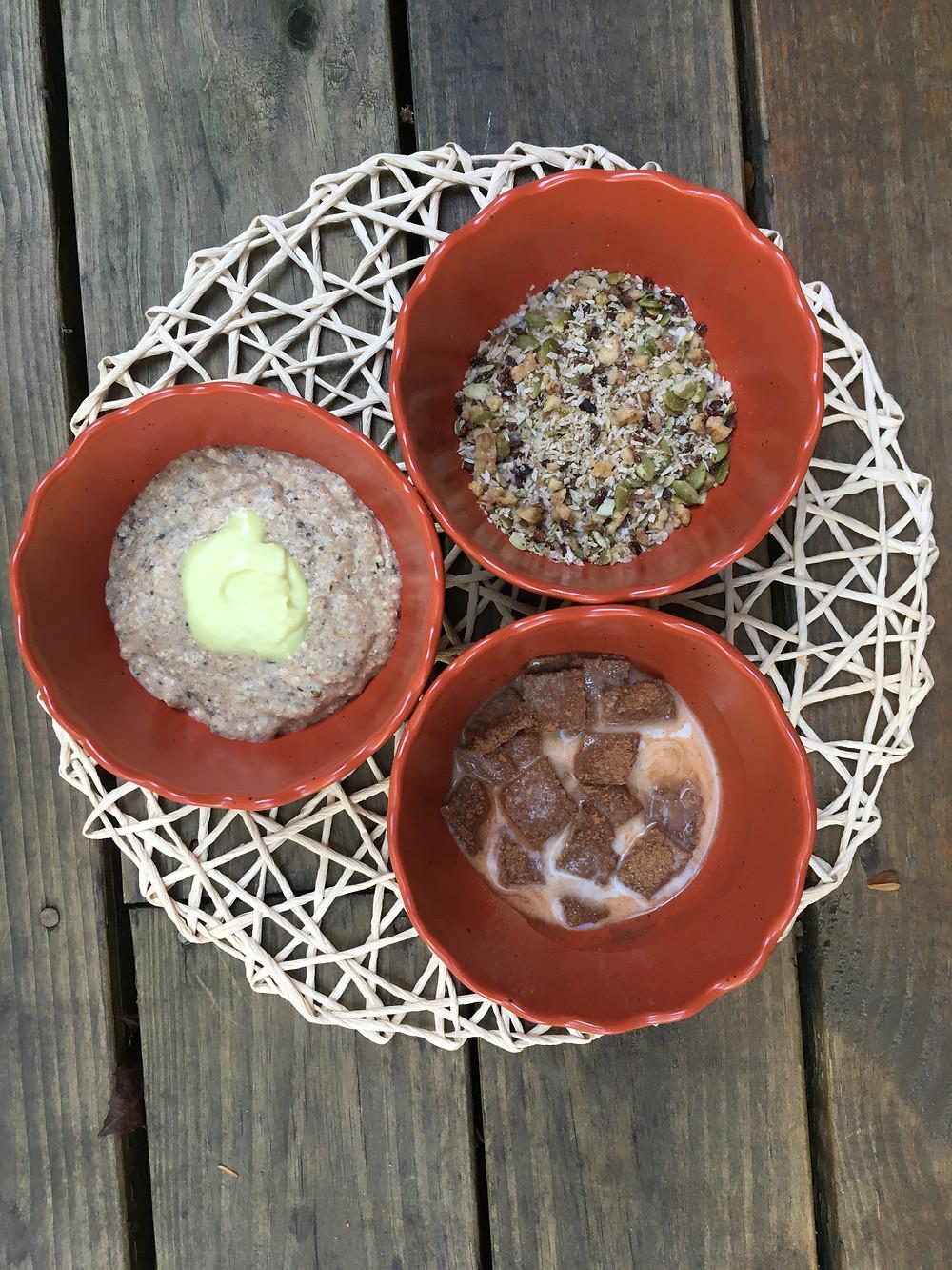 Nooatmeal, Pumpkin Spice Raw-Nola, Cinnamon Crunch Cereals
