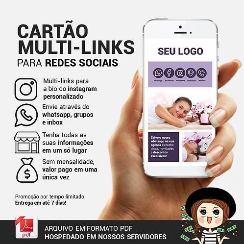 Cartão Multi-Links para uso em whatsapp e redes sociais